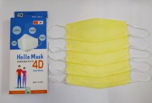 Khẩu Trang Cao Cấp 4D Hello Mask ( Màu vàng)